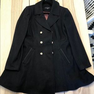 Fit & Flare Double-breasted military wool coat